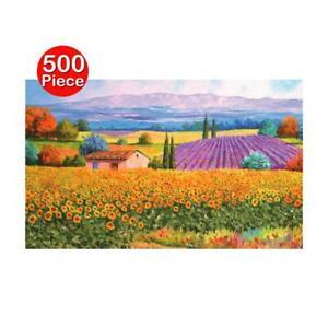 500-Pieza-Rompecabezas-Paisaje-Campo-de-girasol-paisajes-de-lavanda