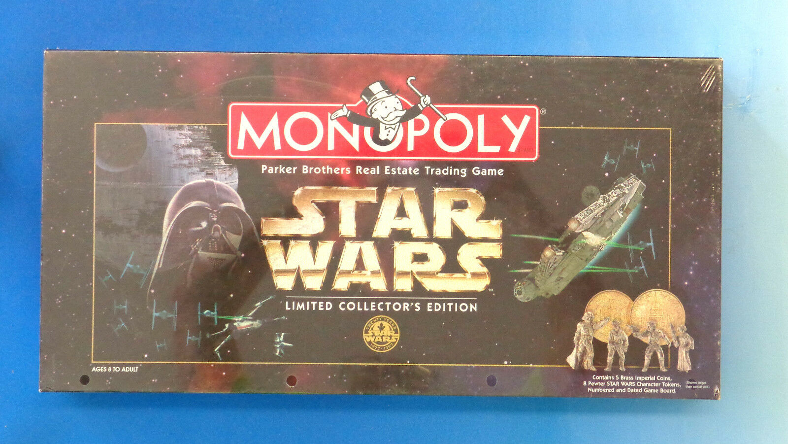 Star Wars Monopoly Game by Parker Brougehers 1996 NEW SEALED Pewter Pawns
