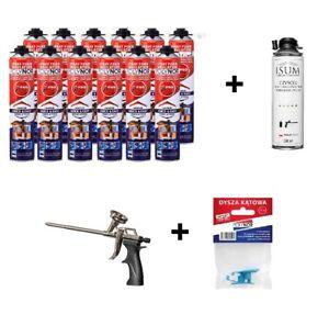 POLYNOR-PRO-750ml-izolacja-natryskowa-PUR-pistoletowa-zestaw-28-elementow