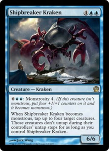 SHIPBREAKER KRAKEN Magic Theros RARE mtg m//nm