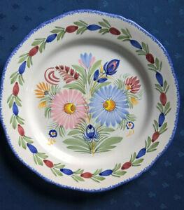 Assiette Quimper Henriot Décor de Fleurs