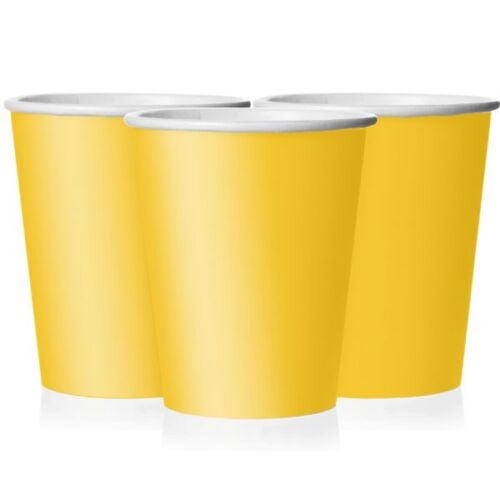 Coloured Paper CUPS Birthday Party Tableware Kids Adult Round Disposable Supplie