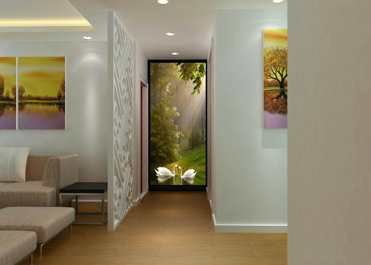 3D Sun Weiß Swans 83 Wall Paper Murals Wall Print Wall Wallpaper Mural AU Kyra