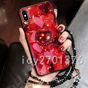 Bling-Marble-ring-holder-KickStand-Soft-Phone-back-Cover-Case-For-iPhone-Samsung