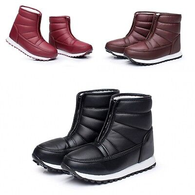Bigger Sizes Womens Winter Snow Warm Waterproof Boots Shoes Ankle Boots AAA