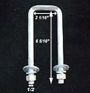 ApplianPar Pack of 8 Boat Trailer U-Bolt Hot Dipped Galvanized Square 1//2 Inch Dia x 3 1//16 Inch x 4 5//16 Inch