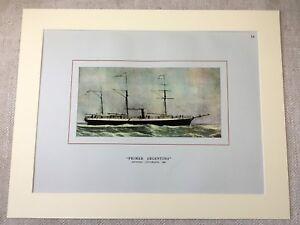 Vintage-Print-Old-Steamship-The-Primer-Argentino-Cruise-Ship-Ocean-Liner