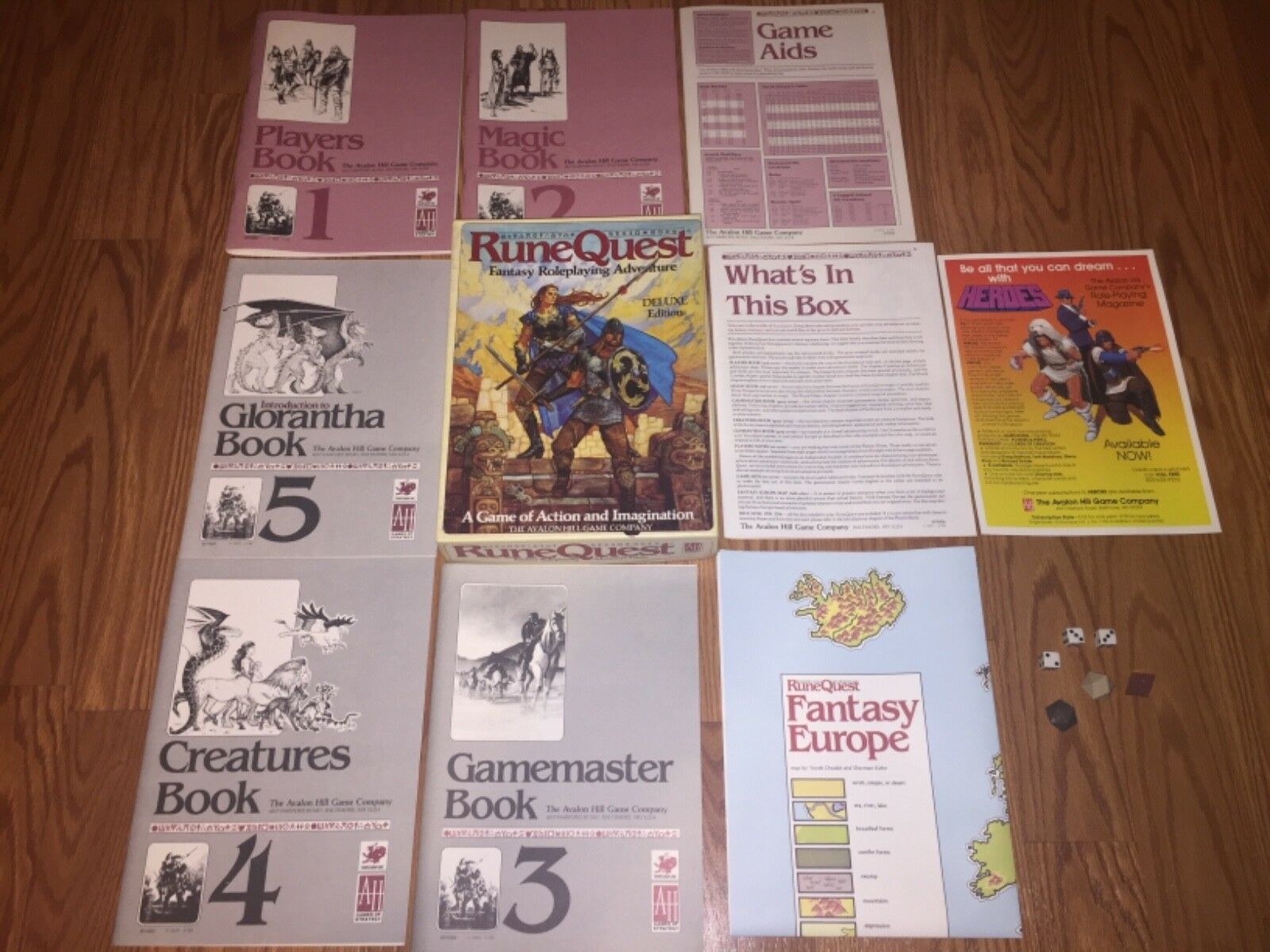 RARE NOS 1984 RUNE QUEST Deluxe Edition 857 Fantasy Role Playing Adventure