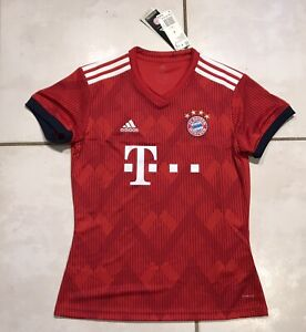 premium selection 7d4d8 e1bff Details about NWT ADIDAS FC Bayern Munich Jersey 2018/2019 Women's Small  MSRP $90