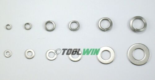 350 pc Stainless Steel Lock /& Flat Washer Assortment Nuts Bolt