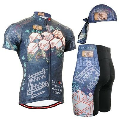 FIXGEAR CS-1502-SET Cycling Jersey & Padded Shorts Bicycle Wear MTB Road Bike