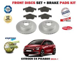 FOR-CITROEN-C4-PICASSO-2013-gt-NEW-FRONT-BRAKE-DISCS-SET-DISC-PADS-KIT