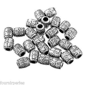 50-Perles-Plastique-Acrylique-Ovale-Motif-Accessoire-Pr-Bracelet-9x8mm
