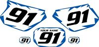 1991-2003 Yamaha Dtr 125 Pre-printed White Backgrounds With Shock Series