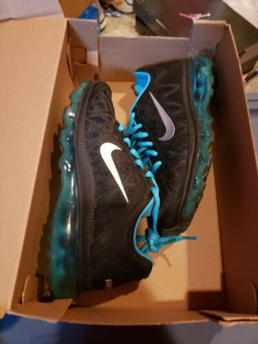 NIKE AIR MAX 2011 GS SIZE 4y BLACK AND BLUE 431873