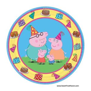 Details About Peppa Pig Party Favor Birthday Plates Cake Decoration Dessert Supplies Piggy Nw