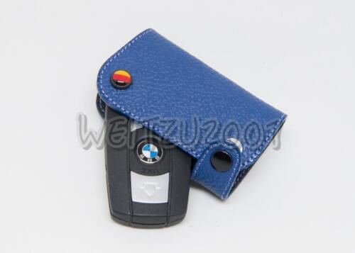 Blue Color Leather Key case for BMW BMW 3 series E90 E92 04-12 316i 320i 335i
