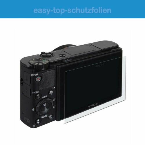 Panasonic Lumix DC-TZ96-3x antireflex Displayschutzfolie Anti-Shock Schutz