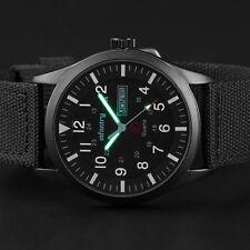 Infantry Mens Quartz Wrist Watch Date Day Lume Military Army Black Nylon Sport