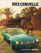 Chevrolet Chevelle 1973 USA Market Sales Brochure Deluxe Malibu SS Laguna