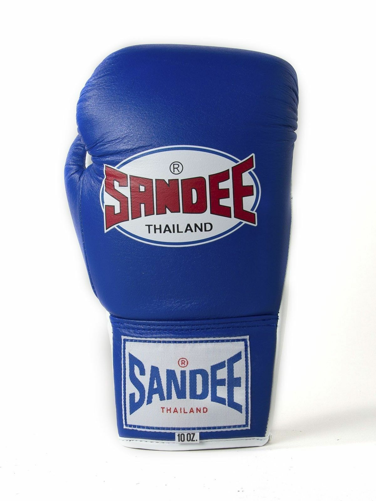 Sandee Lace Up Up Up Pro Fight Blau & Weiß Leder Muay Thai Boxing Gloves eb19fc