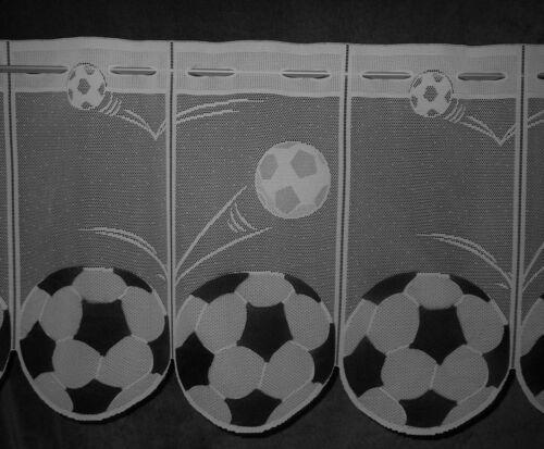 Fußball Scheibengardine Kindergardine 9 Breiten WM Bundesliga Ball Sport Bistro