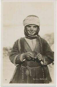 Syria-environ-1920-exquise-Comme-neuf-B-W-RP-PC-034-Syrie-Bedouine-034-Extremely-Rare-Card