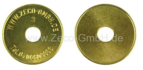 1699370 VE= 10 Stück Wertmarke 24 x 1,8mm Zeco 370 kompatibel mit Miele T.-Nr