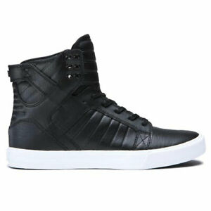 Supra-Men-039-s-Skytop-Hi-Top-Sneaker-Shoes-Black-White-Footwear-Skateboarding-Skate