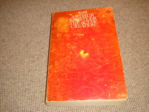 1 of 1 - Arthur Koestler THE ACT OF CREATION reprint Picador paperback Danube foreword VG
