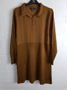 Womens-Brown-Long-Sleeve-Dress-Size-UK-14-EURO-42-FREE-UK-SHIPPING
