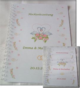 Geschenk-Hochzeit-Hochzeitsgeschenk-Festzeitung-Hochzeitszeitung-Rosen-amp-Schwaene