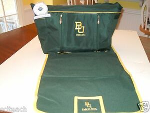 Brand New Green Baylor University Bears Baby & Toddler Diaper Bag w/Changing Pad