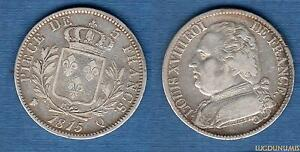 5-Francs-Louis-XVIII-Buste-Habille-1815-Q-Perpignan-TB