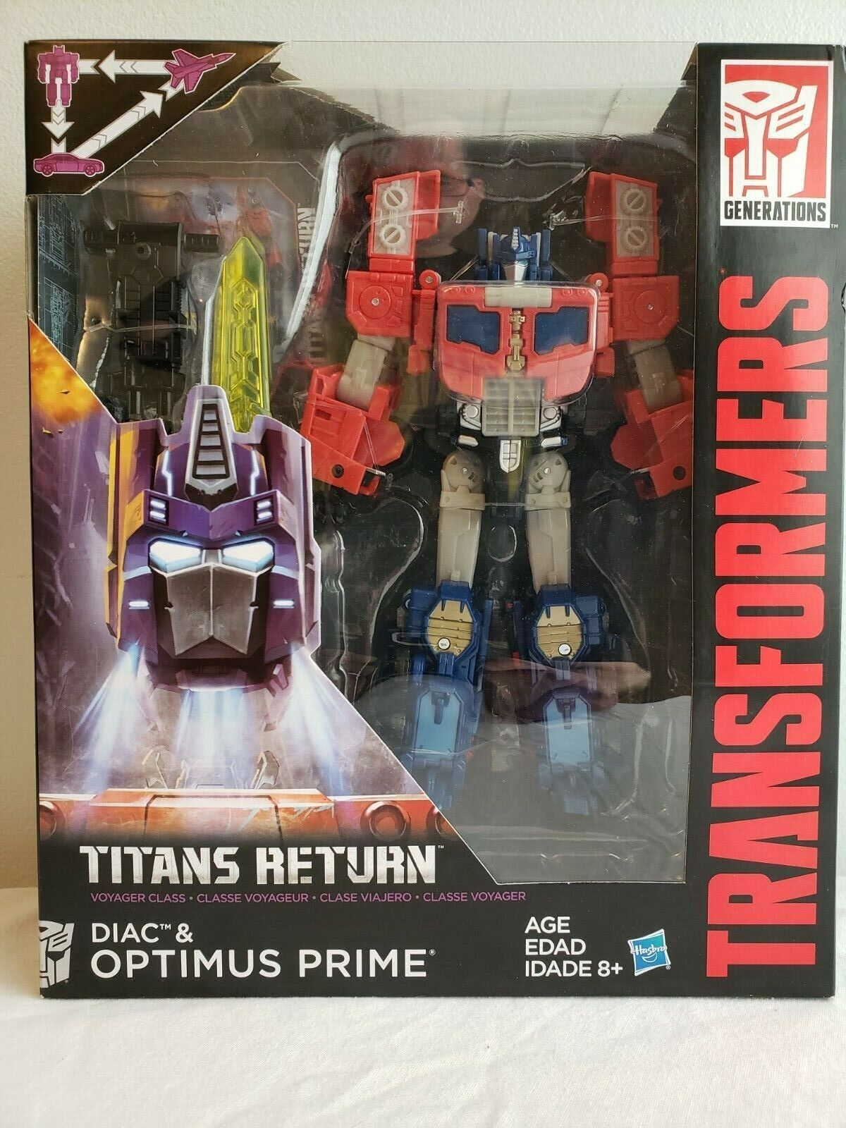 Optimus Prime and Diac NEW  Transformers Titans Return Voyager Class