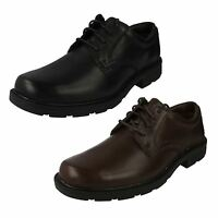 MENS CLARKS LEATHER LACE UP SHOE AVAIL. IN BLK. & BROWN STYLE - LAIR WATCH G FIT