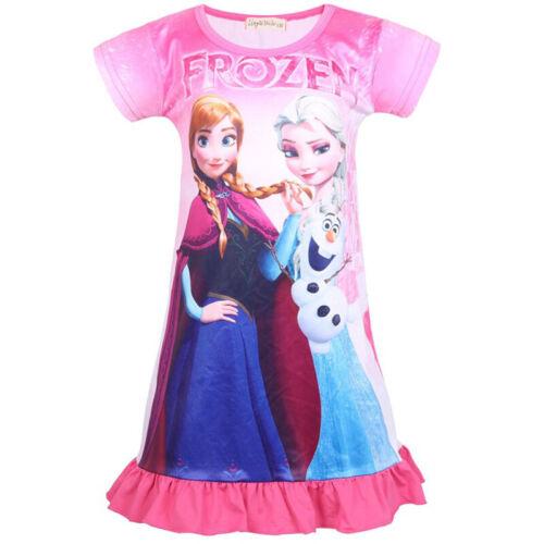 Toddler Girls Cartoon Frozen Princess Unicorn Shirt Dress Summer Casual Sundress