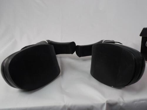 "TUK PINUP ROCKABILLY BLACK  A6852L 3.5/"" 2 EYE BLACK LEATHER PLATFORM HEELS 9"