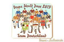 """Metall-Plakette """"Vespa World Days 2013 - Team Deutschland"""" - 100 Stk weltweit! S"""
