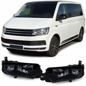 Vw Bus 2015 >> Details About Black Smoked Finish Fog Lights For Vw Bus T6 Multivan Transporter From 2015