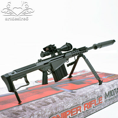 1/6 Sca Muffler Soldier Weapon Gun Model Barrett M107A1 Assembled Sniper  12
