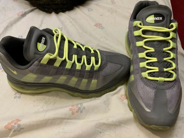 Nike Air Max 95 360 GS Big Kids 512169 003 Grey Volt Running Shoes. Sz 7Y..2012