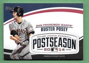 Buster Posey 2018 Topps Update MLB POSTSEASON LOGO PATCH RELIC Giants PSL-BP