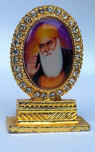 Guru Nanak Dev Ji Photo Portrait Sikh Singh Khalsa Khanda Desktop GIFT Stand A8
