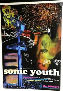 SONIC-YOUTH-POSTER-MAY-25-27-1998-FILLMORE-SF-INSCRIBED-BY-THURSTON-MOORE