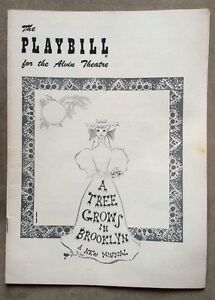 Vintage-1950s-PLAYBILL-034-A-Tree-Grows-In-Brooklyn-034-For-The-Alvin-Theatre