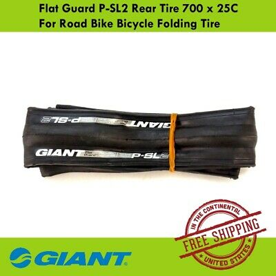 Giant Flat Guard P-SLR2 Bicycle Tire 700x25C Folding Tire Front Rear or F+R