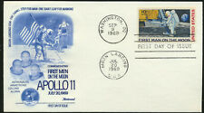 C76 Moon Landing Cachet - 1969 Dual Cancel UA Fleetwood Cachet First Day Cover