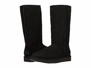 Women-039-s-Shoes-UGG-CLASSIC-TALL-II-Slip-On-Sheepskin-Boots-1016224-BLACK