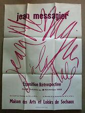 Jean messagier affiche  rétrospective exposition 1969 sochaux doubs